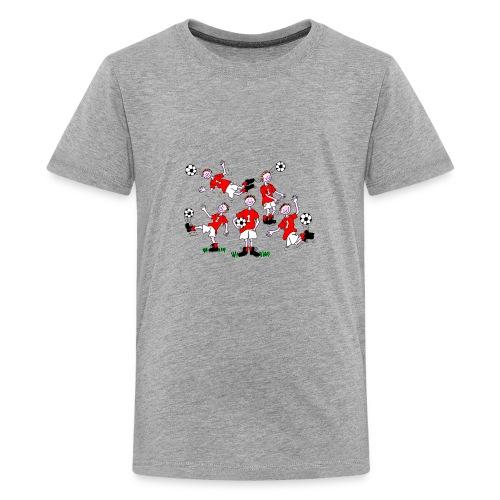 Cartoon Football Player - Teenage Premium T-Shirt