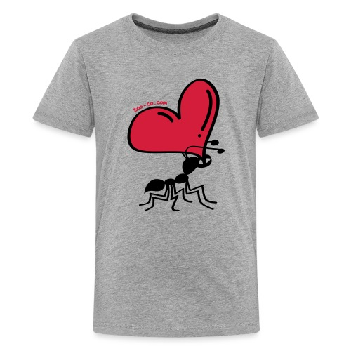 Ant Carrying the Love's Heart - Teenage Premium T-Shirt