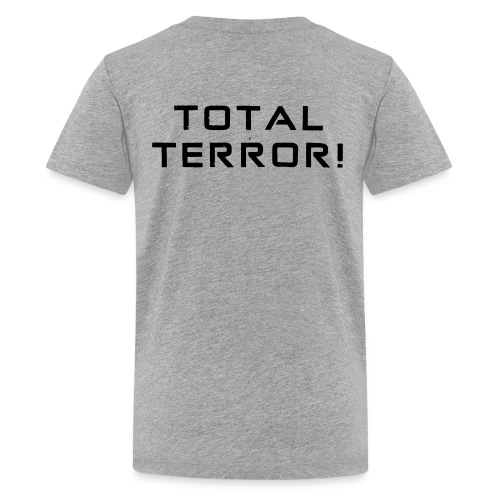 Black Negant logo + TOTAL TERROR! - Teenager premium T-shirt