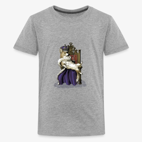 Queen Corgi - Teenage Premium T-Shirt