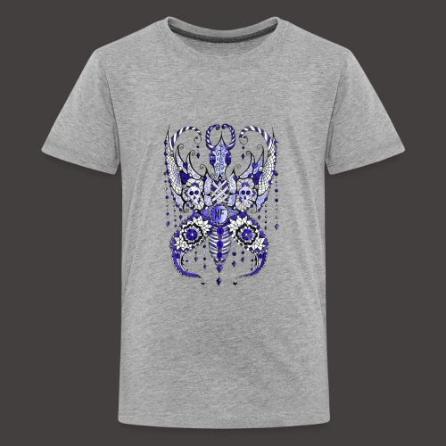Papillon Lilou Bleu - T-shirt Premium Ado