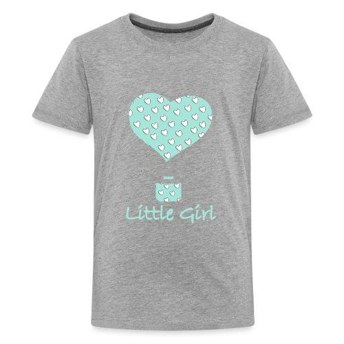 Little Girl in mongolfiera - Maglietta Premium per ragazzi