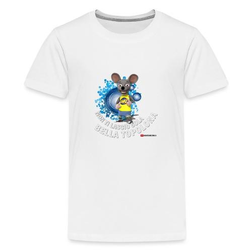 Bella Topolona testo Bianco - Maglietta Premium per ragazzi
