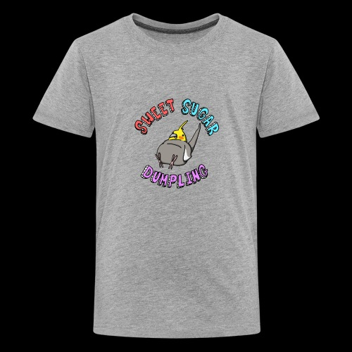 Sweet Sugar Dumpling Cockatiel - Teenage Premium T-Shirt