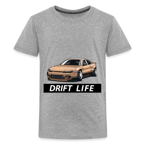 Vida Drift Tuneo Derrape Silvia s14 drift jdm - Camiseta premium adolescente
