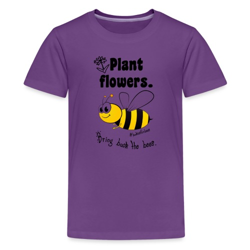 Bees8-1 Bringt die Bienen zurück!   Bookrebels - Teenage Premium T-Shirt