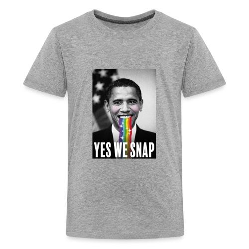 Obama snaps - T-shirt Premium Ado