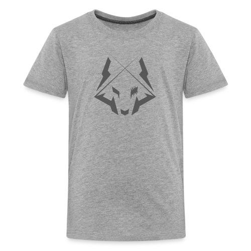 Wolf Logo Gray - Premium-T-shirt tonåring