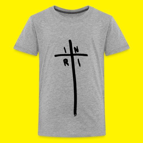 Cross - INRI (Jesus of Nazareth King of Jews) - Teenage Premium T-Shirt