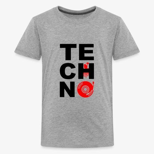 TECHNO VINILO - Camiseta premium adolescente