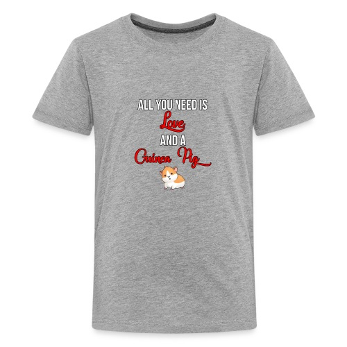 All you need is love and a Guinea Pig !!! - Teenage Premium T-Shirt