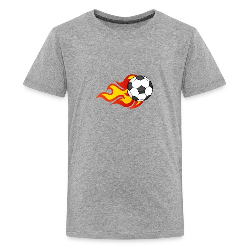 Flaming Football - Teenage Premium T-Shirt