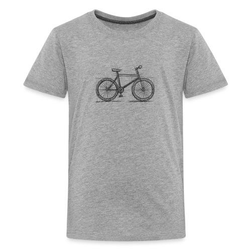 Skizzefahrrad Bleistift - Teenager Premium T-Shirt