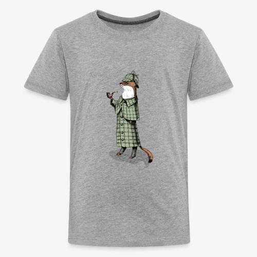 Stoat Detective - Teenage Premium T-Shirt