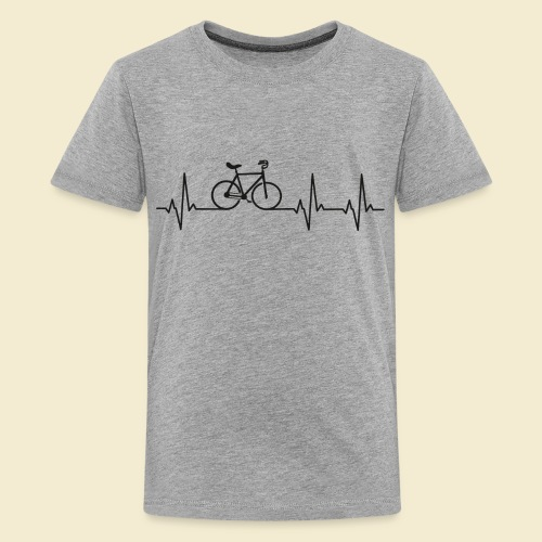 Kunstrad   Artistic Cycling   Heart Monitor Black - Teenager Premium T-Shirt