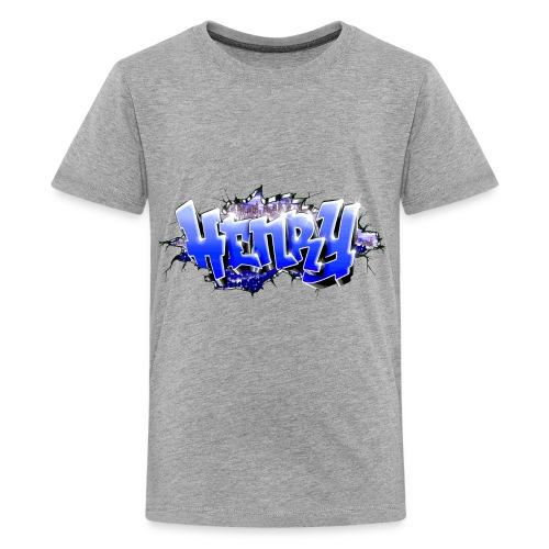 HENRY GRAFFITI TAG PRINTABLE BY MAX LE TAGUEUR - Teenage Premium T-Shirt