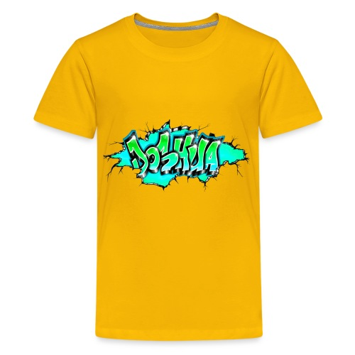 GRAFFITI JOSHUA PRINTABLE WALL BROKE - T-shirt Premium Ado