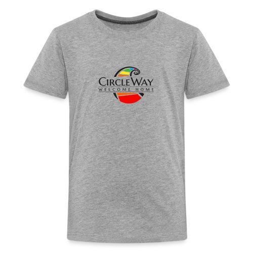 Circleway Welcome Home Logo - schwarz - Teenager Premium T-Shirt