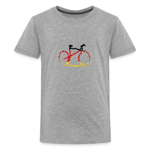 Germany bike chain scale - Teenage Premium T-Shirt