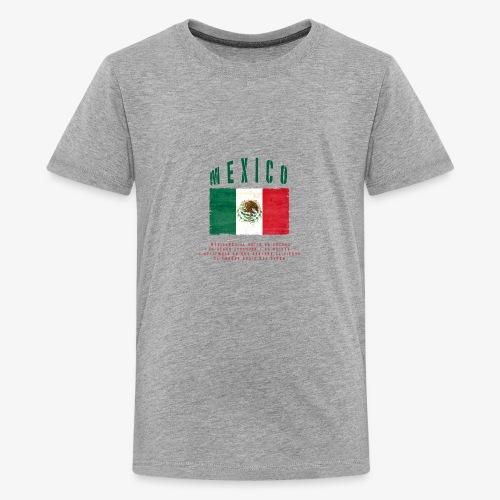Mexican Flag Bandera Mexico - Teenager Premium T-Shirt