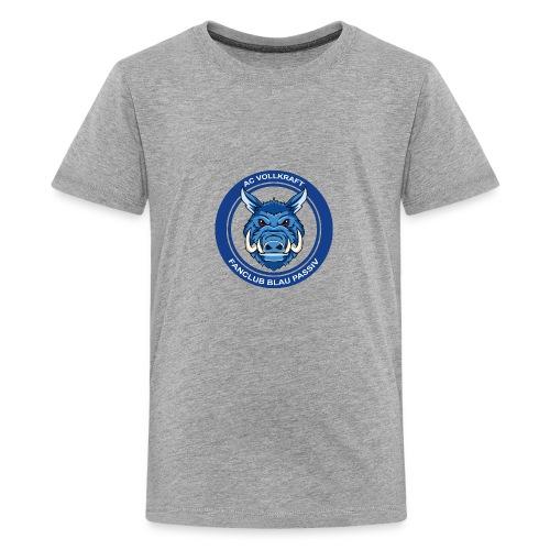 Blau Passiv Fanclub Logo - Teenager Premium T-Shirt