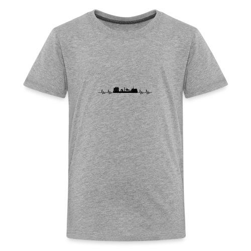 Med hjert de slæ for Affenraa! - Teenager premium T-shirt