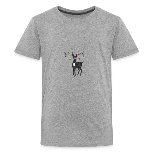 Christmas reindeer - Teenage Premium T-Shirt