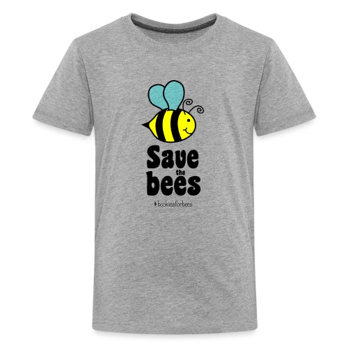 Bees9-1 save the bees | Bienen Blumen Schützen - Teenager Premium T-Shirt