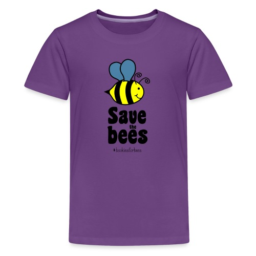 Bees9-1 save the bees   Bienen Blumen Schützen - Teenage Premium T-Shirt
