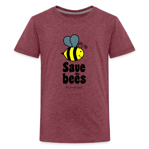 Bees9-1 save the bees | Bienen Blumen Schützen - Teenage Premium T-Shirt