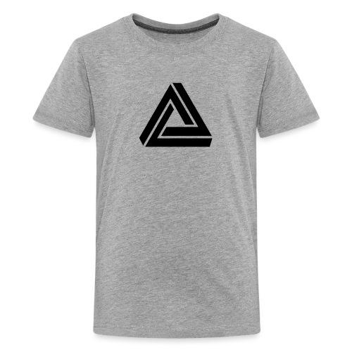 Tribar Dreieck, Unmögliche Figur Optische Illusion - Teenager Premium T-Shirt