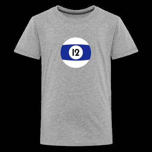 Billardkugel als Geburtstagsshirt 12 Jahre - Teenager Premium T-Shirt