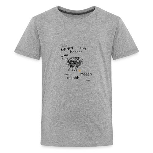 Tierlaut zweisprachig - Teenager Premium T-Shirt