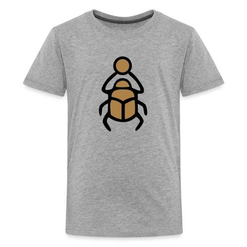 Skarabäus Ägyptisches Schutz Symbol Amulett - Teenager Premium T-Shirt