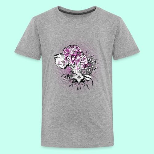 Doggen Portrait Tattoo Style - Teenager Premium T-Shirt