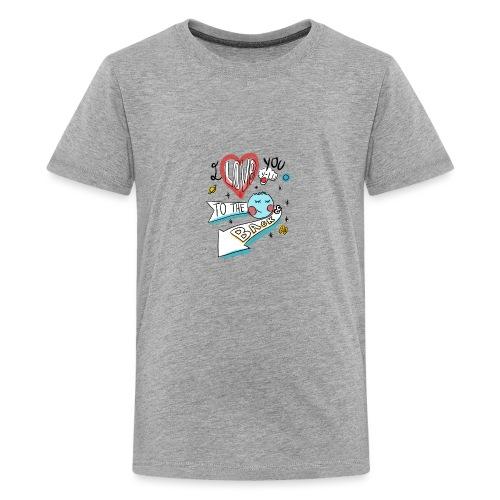 I love you to the moon 2 - T-shirt Premium Ado