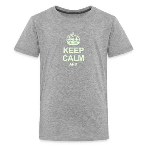 Keep Calm and Edit Text! - Teenage Premium T-Shirt