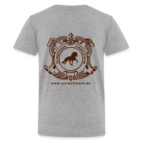Logo 1 dicke Schrift - Teenager Premium T-Shirt