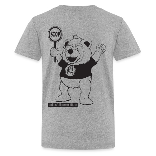 FUPO der Bär. Druckfarbe schwarz - Teenager Premium T-Shirt