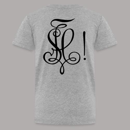 Zirkel, schwarz (hinten) - Teenager Premium T-Shirt