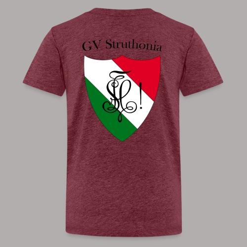 Wappen Struthonia beschriftet - Teenager Premium T-Shirt