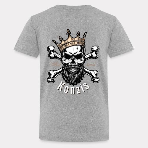 Skull Bones Logo - Teenager Premium T-Shirt
