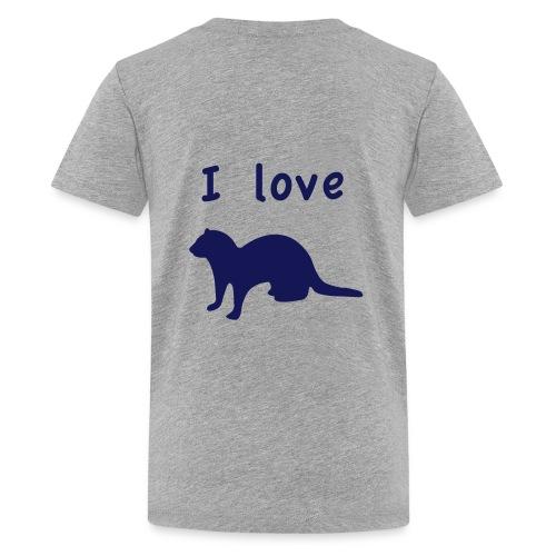 ilovefrettchen 1 - Teenager Premium T-Shirt