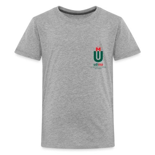 logo udima vertical png - Camiseta premium adolescente