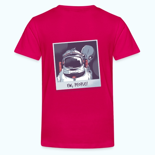 Aliens and astronaut - Teenage Premium T-Shirt