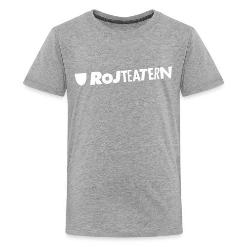 Tygkasse logga vit/svart - Premium-T-shirt tonåring