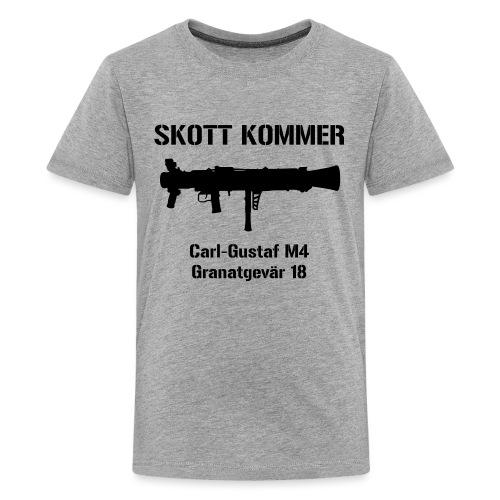 SKOTT KOMMER - KLART BAKÅT - SWE Flag - Premium-T-shirt tonåring