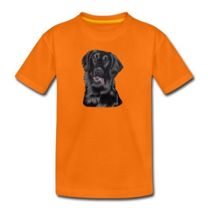 flatcoated retriever p - Teenager premium T-shirt