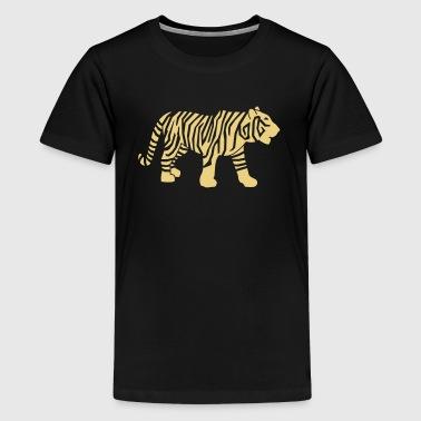 Wildtiere: der Tiger - Teenager Premium T-Shirt