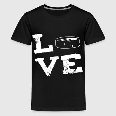 AMOR - hockey hielo hockey - Camiseta premium adolescente